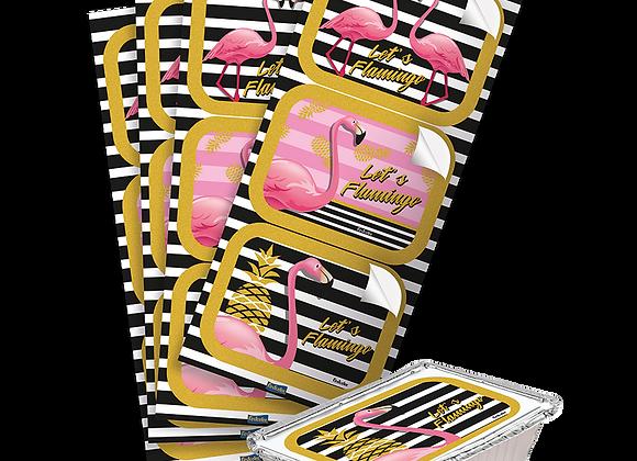 Adesivo Retangular Flamingo