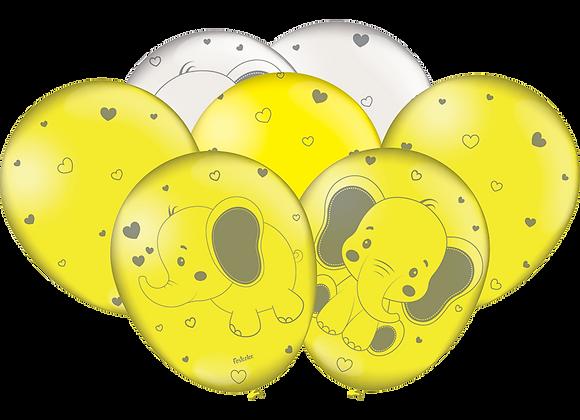Balões Elefantinho Amarelo N°9