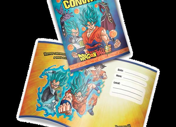 Convite Dragon Ball Z Super