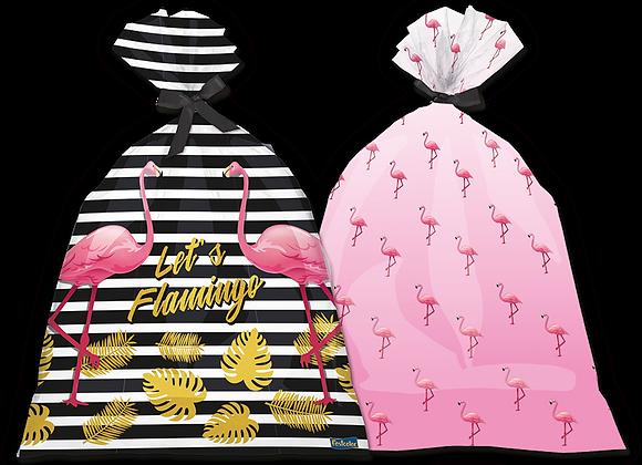 Sacola Plástica Flamingo