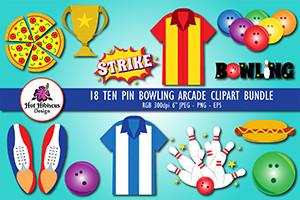Bowling arcade illustrations