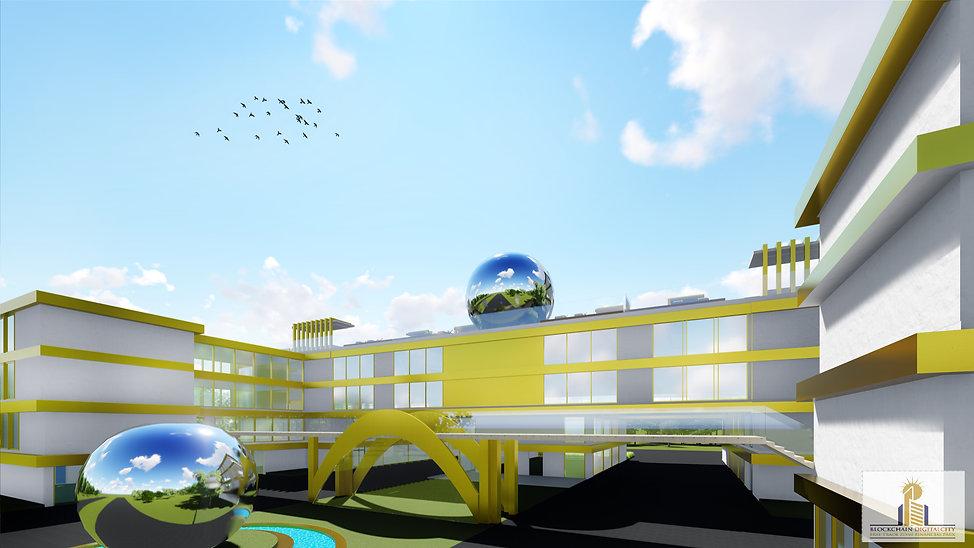HD 7-Blockchain DigitalCity 3D Office To