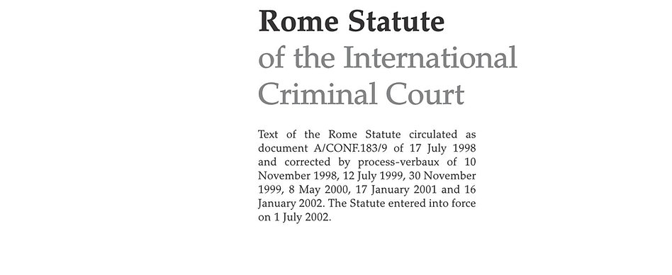 does the rome statute empower individuals Abstract this paper examines the dispute settlement procedure established by article 119 of the rome statute of the international criminal court, with particu.