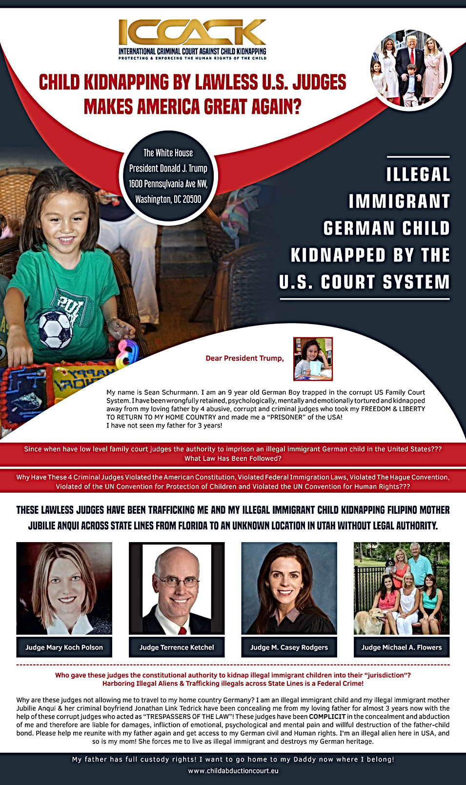 CHILD KIDNAPPING BY LAWLESS SANCTUARY CITY JUDGES MAKES AMERICA GREAT AGAIN?