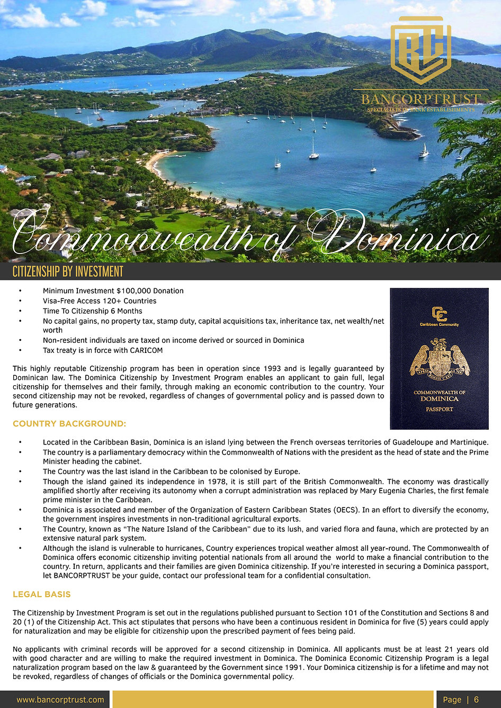 BANCORPTRUST BROCHURE - DIPLOMATIC PASSP