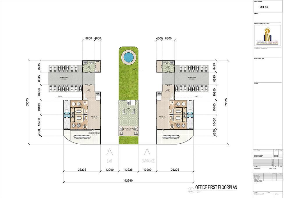 FIRST FLOOR OFFICE RENDER @ BLOCKCHAIN DIGITALCITY
