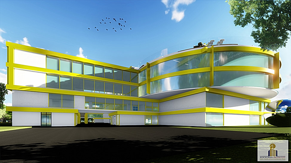 HD 6-Blockchain DigitalCity 3D Office To