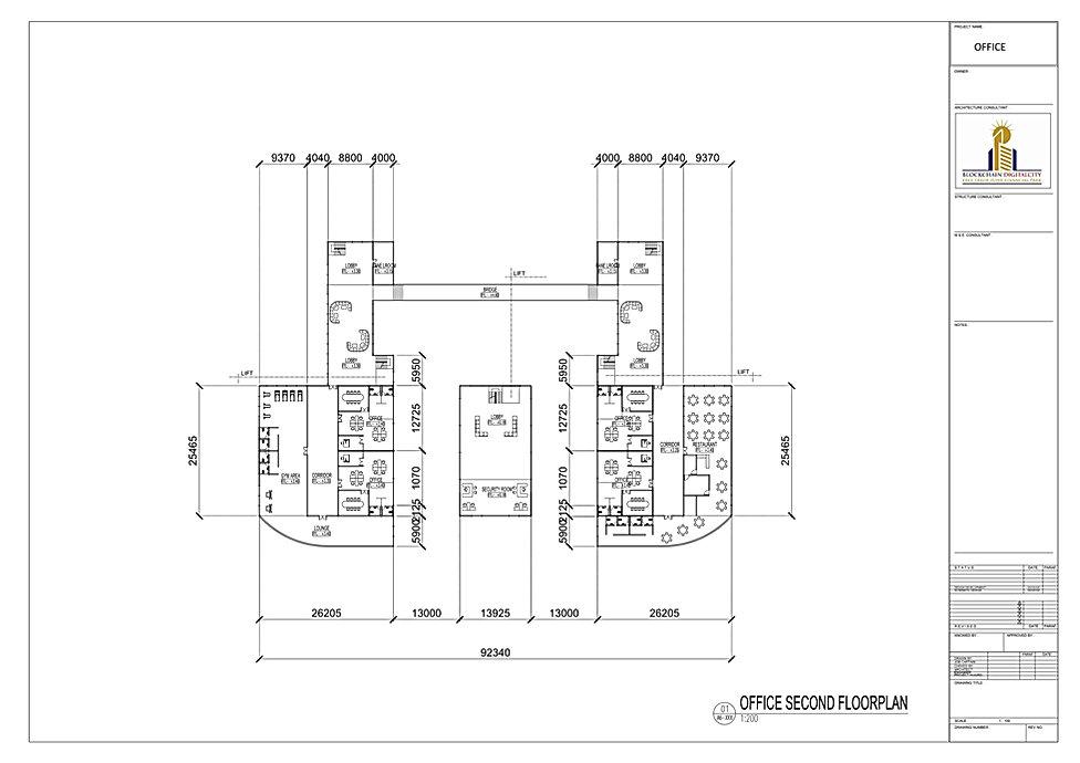 2-OFFICE SECOND FLOOR PLAN @ BLOCKCHAIN DIGITALCITY