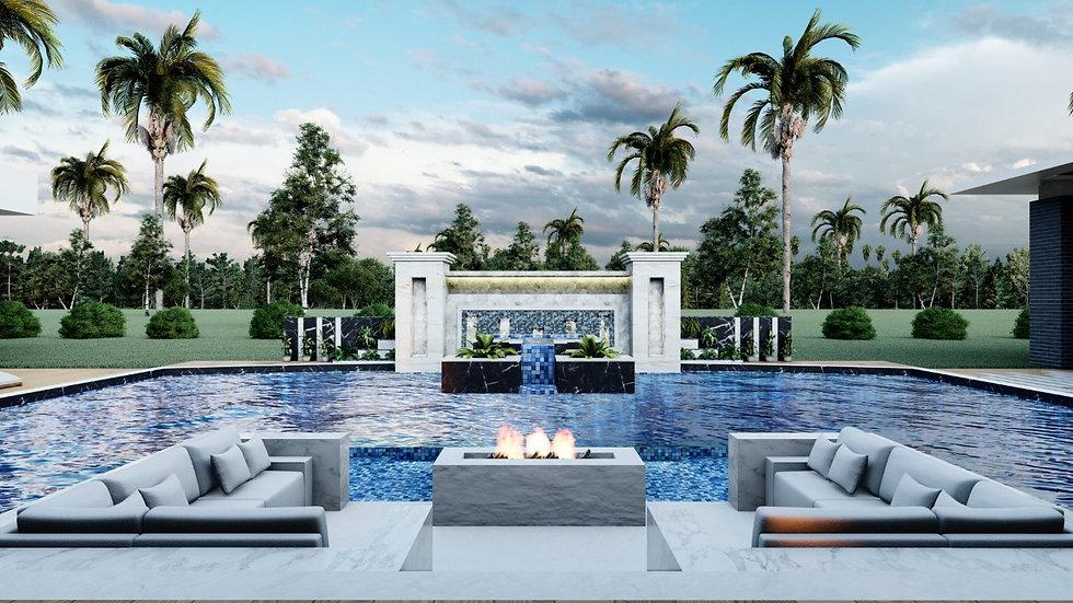 Villa 2 Pool Design @ Blockchain DigitalCity