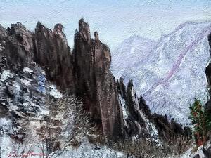 금강산 천년바위, Oil on canvas, 53.0 x 40.9cm. 2021.(10P)