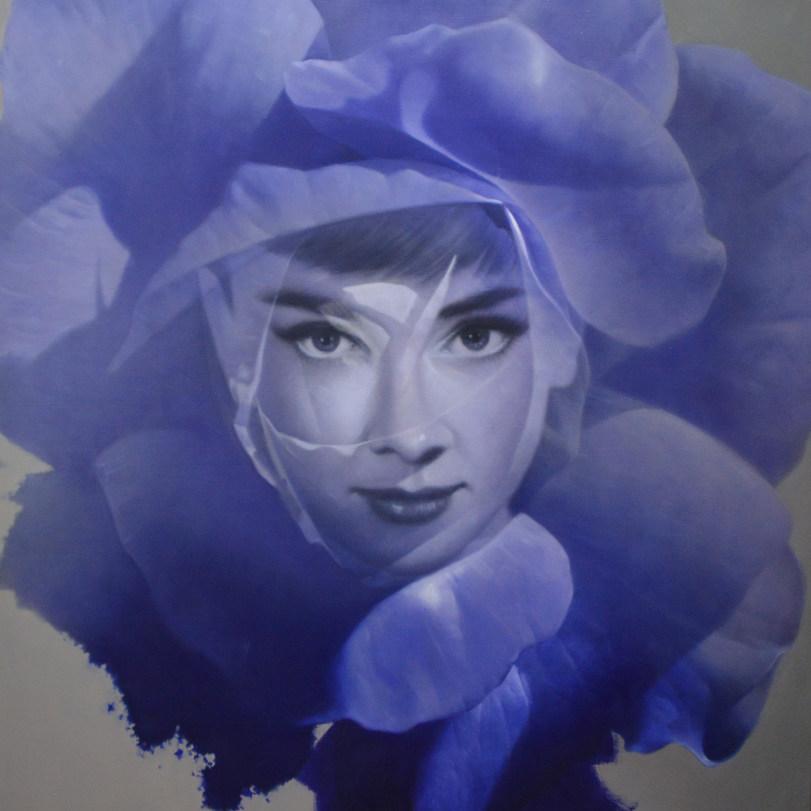 오재천, 장미, 60x 60cm, oil on canvas, 2016.