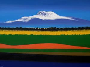 한라의 사계, Oil on canvas, 145.5 x 112.1cm. 2019.(80F)