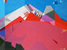 6. 면과색 그리고 리듬C, mixed media, 162.2x130.3