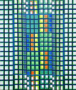 이정옥, <자연의 고리2-2019>, Oil on canvas, 72.7 x 60.6cm, 2019.