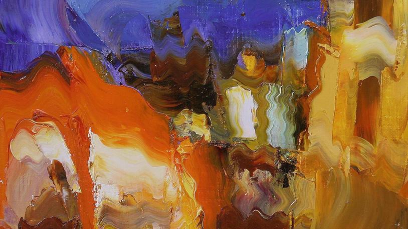 자갈치인상.32X32cm.oil on canvas.
