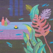 알함브라궁전의 추억 ,72x60cm, oil on canvas_