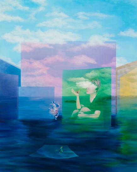 사라지는 모든 순간, 2020, Acrylic on canvas,130x162cm.