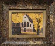박용인, 만추, oil on canvas, 27.7 x 15.6cm, 2014.