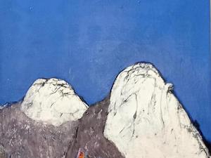 10. 인수봉 백운대, Oil on canvas, 60.6 x 72.7cm. 2021.(20F)