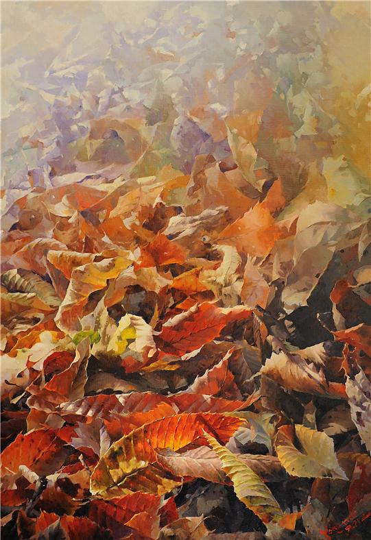 휴식의 공간 162×112 oil on canvas,2012..