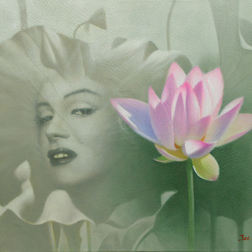오재천, 실상과 가상, 90 x 90cm, oil on canvas, 2016.