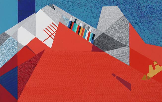 6. 면과 색 그리고 리듬D, mixed media, 90.9x72.7cm.  2020. 30F.jpg