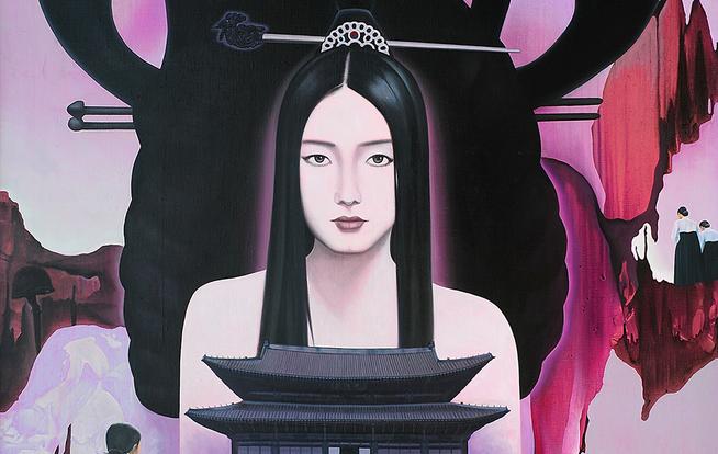 신제남,신명성황후(The New Myungsung empress).100호.캔바스에유화. 2000.