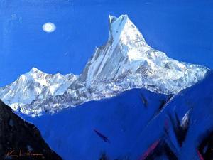히말라야 마츄프추레, Oil on canvas, 145.5 x 97.0cm. 2020.(80P)