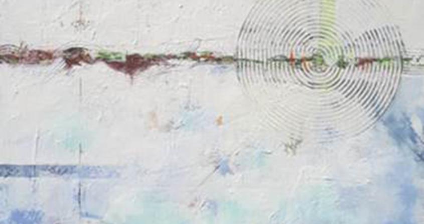 6.생명-Interaction6,162X130, Mixed media on canvas.