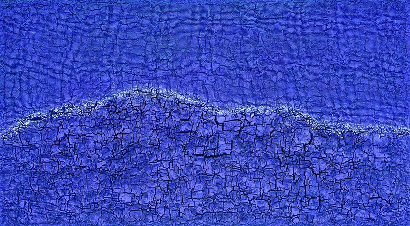 공존–밀알의 숲 100M-2 /162.2×97cm /mixed materiais / 2020