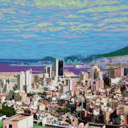 7.Life19-17,  60.6×91cm Acrylic on Canvas, 2019.