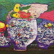 유경자, Fragrance of nature (부제_조응), 72.2x60.6cm, Acrylic on canvas.