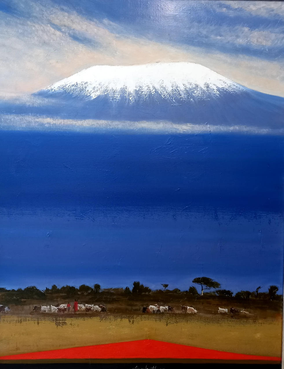 키리만자로 마사이족 양치기, Oil on canvas, 116.8 x 80.3cm. 2018.(50P).jpg