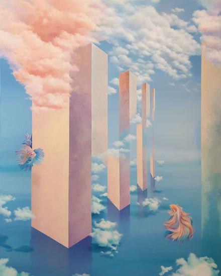 사이,2020,Acrylic on canvas,130X162cm.
