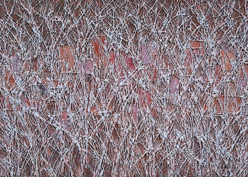 숲속 도시 ,캔버스에 혼합 된 MEDEA, 65.1 x 90.9 cm.