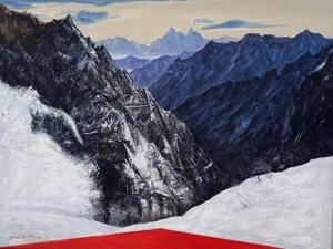 설악 마등령에서, Oil on canvas, 145.5 x 112.1cm. 2020.(80F)