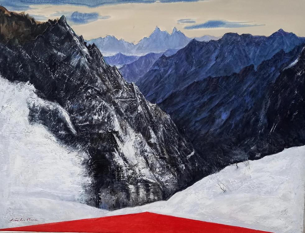 설악 마등령에서, Oil on canvas, 145.5 x 112.1cm. 2020.(80F).jpg