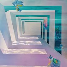 김도희.숨길, 2020, Acrylic on canvas, 130X162cm.