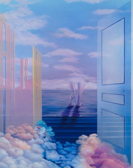 돌아가는 길, 2020, Acrylic on canvas,130x162cm.