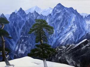 설악산, Oil on canvas, 193.9 x 97.0cm. 2021.(120M)