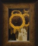 박용인, 해바라기, oil on canvas, 27.7 x 15.6cm, 2015.