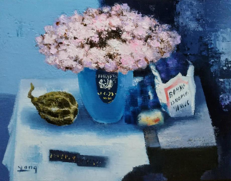탁자 위에 정물, Oil on canvas, 53.0x45.5cm