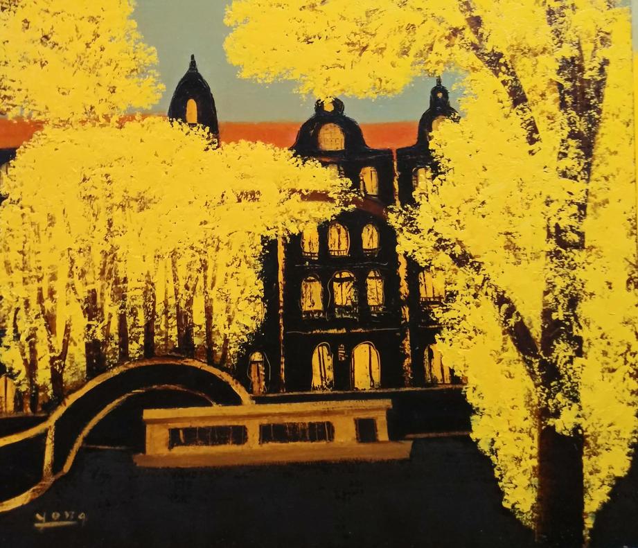 암스테르담의 만추, Oil on canvas, 53.0x45.5cm.