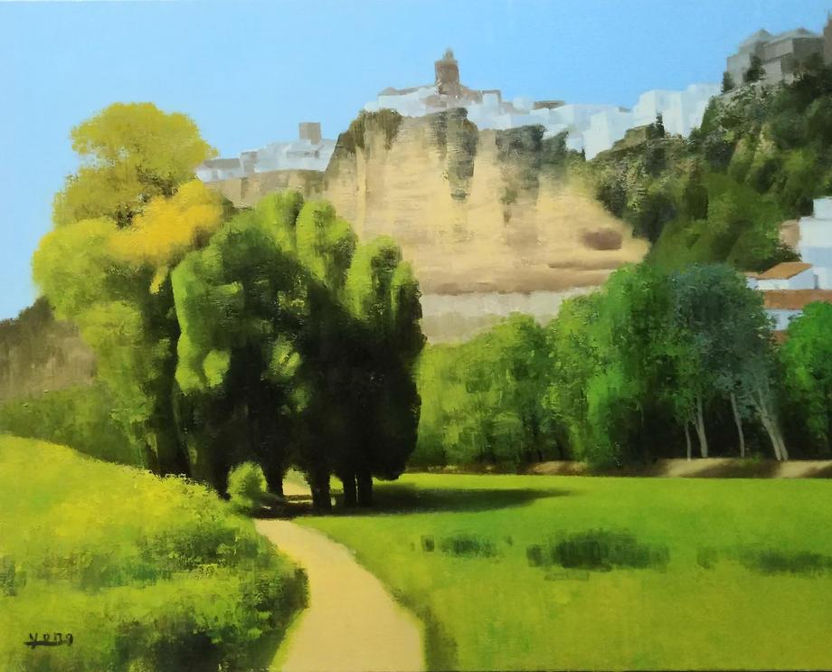 아르코스 풍경, Oil on canvas, 90.9x72.7cm.