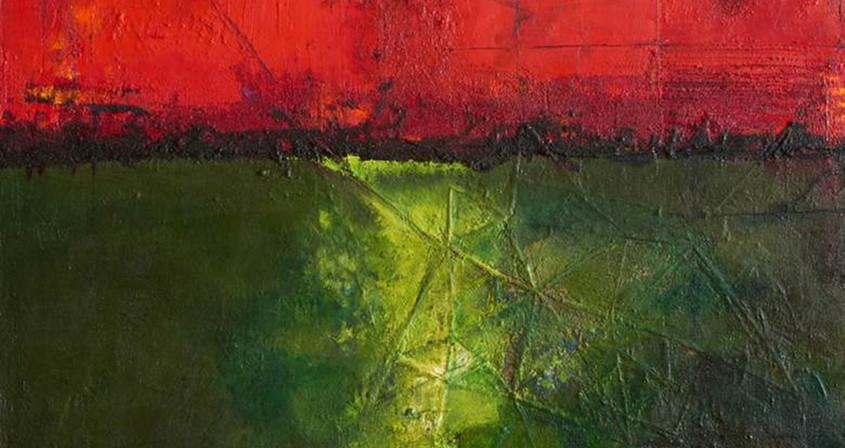 4.생명-교신하다,162X130, Mixed media on Canvas.