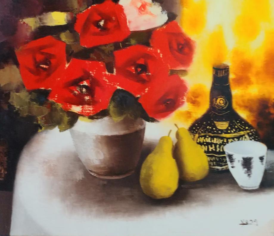 장미, Oil on canvas, 53.0x45.5cm.