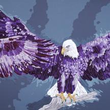 이영애作_The Eagle_5033 ×150㎝  Mixed media on Canvas_