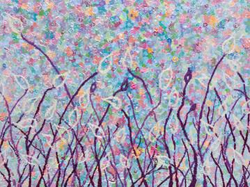 _Mystery of life 4_, Mixed media on canvas.