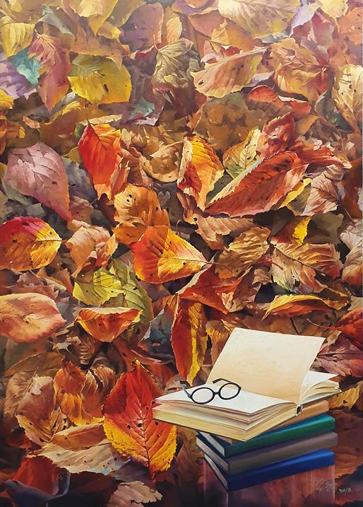 수불석권 162×112 oil on canvas 2018.
