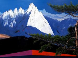 도봉산, Oil on canvas, 192.9 x 97.0cm. 2014.(120M)